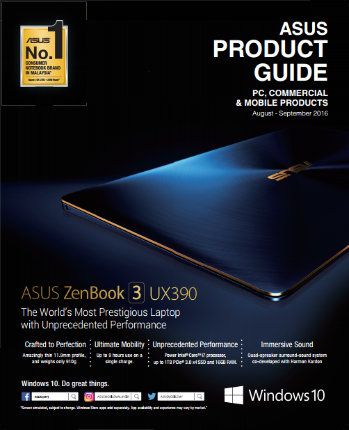asus product guide august september 2016 genesis technology rh genisys com my asus product guide malaysia asus product guide malaysia
